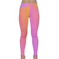 Blank Desk Pink Yellow Purple Classic Yoga Leggings by AnjaniArt