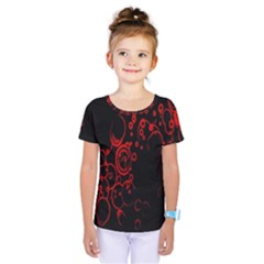 Abstraction Textures Black Red Colors Circles Kids  One Piece Tee