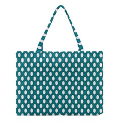 Circular Pattern Blue White Medium Tote Bag