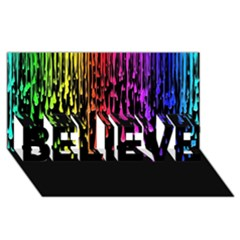 Color Rainbow Believe 3d Greeting Card (8x4) by AnjaniArt