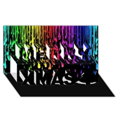 Color Rainbow Merry Xmas 3d Greeting Card (8x4) by AnjaniArt