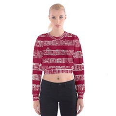 City Building Red Women s Cropped Sweatshirt