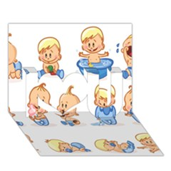 Cute Baby Picture Funny I Love You 3d Greeting Card (7x5) by AnjaniArt
