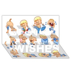 Cute Baby Picture Funny Best Wish 3d Greeting Card (8x4) by AnjaniArt