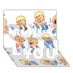 Cute Baby Picture Funny Thank You 3d Greeting Card (7x5) by AnjaniArt