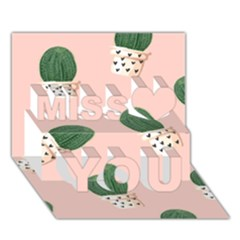 Flower Pot Miss You 3d Greeting Card (7x5) by AnjaniArt