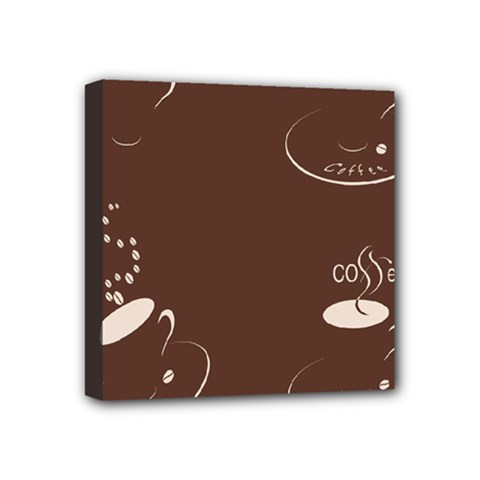 Four Coffee Cups Mini Canvas 4  X 4