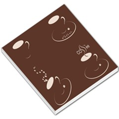 Four Coffee Cups Small Memo Pads by AnjaniArt