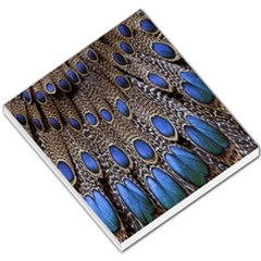 Feathers Peacock Light Small Memo Pads by AnjaniArt