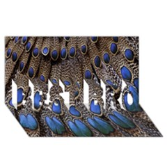 Feathers Peacock Light Best Bro 3d Greeting Card (8x4) by AnjaniArt