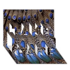 Feathers Peacock Light Take Care 3d Greeting Card (7x5)