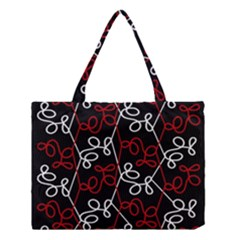 Elegant Red And White Pattern Medium Tote Bag by Valentinaart