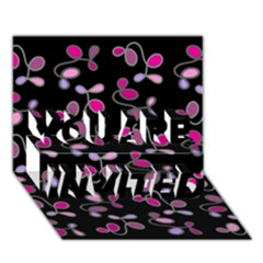 Magenta Garden You Are Invited 3d Greeting Card (7x5)