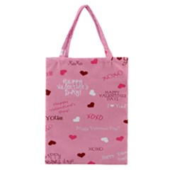 Happy Valentines Day Classic Tote Bag by AnjaniArt