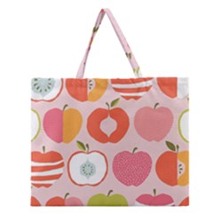 Pink Delicious Organic Canvas Zipper Large Tote Bag