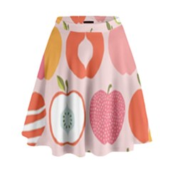 Pink Delicious Organic Canvas High Waist Skirt