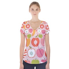 Pink Delicious Organic Canvas Short Sleeve Front Detail Top