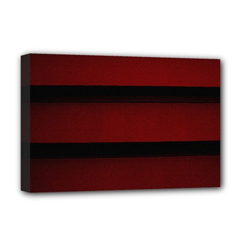Line Red Black Deluxe Canvas 18  X 12