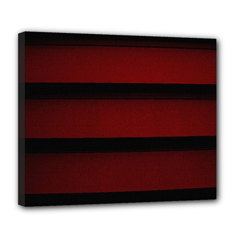 Line Red Black Deluxe Canvas 24  X 20   by AnjaniArt