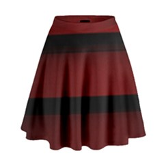 Line Red Black High Waist Skirt