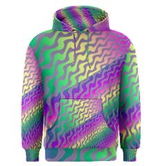 Line Colour Wiggles Men s Pullover Hoodie