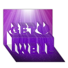 Purple Colors Fullcolor Get Well 3d Greeting Card (7x5) by AnjaniArt