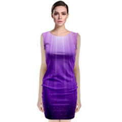 Purple Colors Fullcolor Classic Sleeveless Midi Dress by AnjaniArt