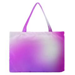 Purple White Background Bright Spots Medium Zipper Tote Bag by AnjaniArt