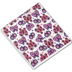 Pink Purple Butterfly Small Memo Pads by AnjaniArt