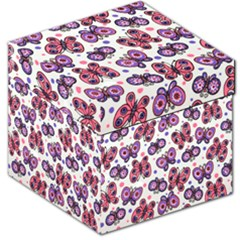 Pink Purple Butterfly Storage Stool 12   by AnjaniArt