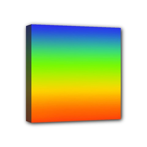 Rainbow Blue Green Pink Orange Mini Canvas 4  X 4  by AnjaniArt
