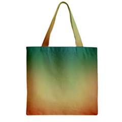 Smooth Gaussian Zipper Grocery Tote Bag