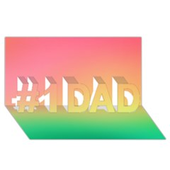 The Walls Pink Green Yellow #1 Dad 3d Greeting Card (8x4)