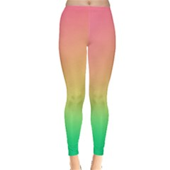 The Walls Pink Green Yellow Leggings  by AnjaniArt