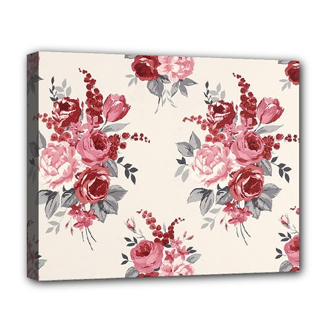 Rose Beauty Flora Deluxe Canvas 20  X 16   by AnjaniArt