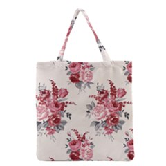 Rose Beauty Flora Grocery Tote Bag by AnjaniArt