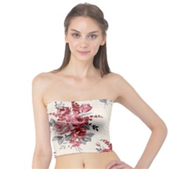 Rose Beauty Flora Tube Top by AnjaniArt