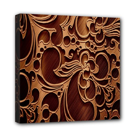 Tekstura Twigs Chocolate Color Mini Canvas 8  X 8  by AnjaniArt
