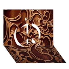 Tekstura Twigs Chocolate Color Peace Sign 3d Greeting Card (7x5) by AnjaniArt