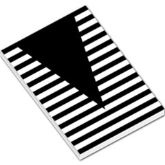 Black & White Stripes Big Triangle Large Memo Pads by EDDArt