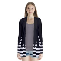 Black & White Stripes Big Triangle Cardigans by EDDArt
