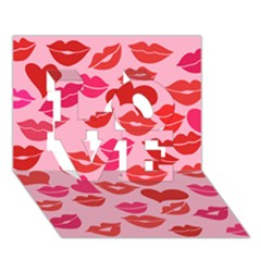 Valentine s Day Kisses Love 3d Greeting Card (7x5) by BubbSnugg