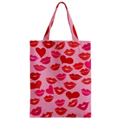 Valentine s Day Kisses Zipper Classic Tote Bag by BubbSnugg