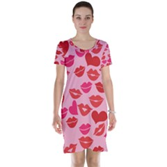 Valentine s Day Kisses Short Sleeve Nightdress by BubbSnugg