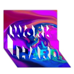 The Perfect Wave Pink Blue Red Cyan Work Hard 3d Greeting Card (7x5) by EDDArt