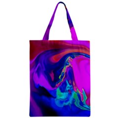 The Perfect Wave Pink Blue Red Cyan Classic Tote Bag by EDDArt