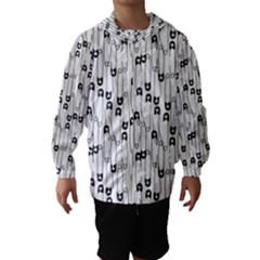 Safety Pin Pattern Hooded Wind Breaker (kids) by kostolom3000shop