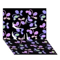 Purple Garden Clover 3d Greeting Card (7x5) by Valentinaart