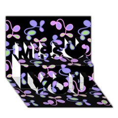 Purple Garden Miss You 3d Greeting Card (7x5) by Valentinaart