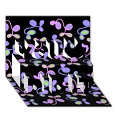 Purple Garden You Did It 3d Greeting Card (7x5) by Valentinaart